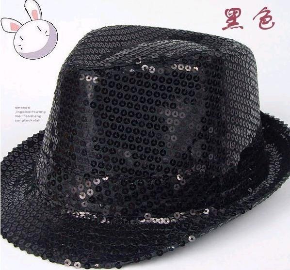 Головной убор Шляпа мужчин Кап черные шляпы этап шоу Hat блесток взрослые дети шляпа джаз шляпе Классическая шляпа Разное Разное Универсальный тип