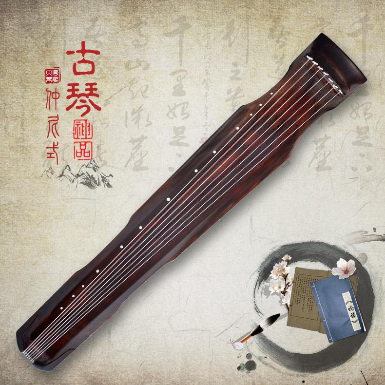 孔子仲尼式古琴 正品高级桐木演奏级古琴图片