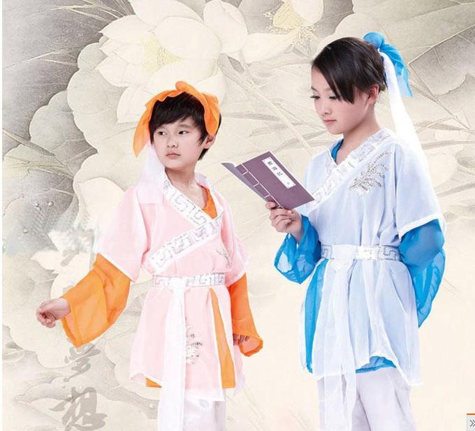 2013新款特价 儿童古装儿童汉服/男童唐装表演服/书童装/三字经图片