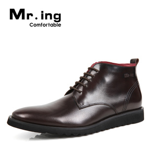 Mr.ing ultra light rubber end of imported leather suits business and leisure pointed shoes for men F1173