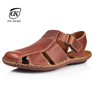 coin men's shoes fashion Sandals leather genuine Beach Rome summer in Europe and cool leather sandals