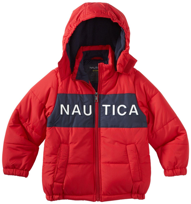 детская верхняя одежда Other American and European brands Nautica Nudcar Nautica Муж. Утеплённая модель Смешанная ткань Однотонный цвет С подкладкой из хлопка