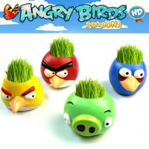 бонсай Сердиться птиц мини столе DIY трава культивирования и давления освобождении небольшие заводы