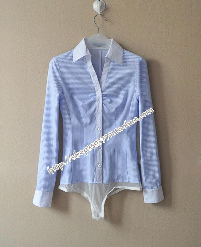 женская рубашка JD*ER OL 0503 Повседневный Длинный рукав В полоску