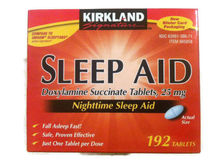 Kirkland Sleep Aid Doxylamine Succinate 25 mg, 192 tablets柯