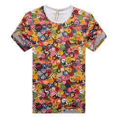 2014夏季新品男士花色短袖T恤 ZD908-131037P70