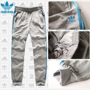 Брюки спортивные Adidas 666 Для мужчин 100 хлопок Эластичный Осень 2012 Рисунок, Надпись % Для спорта и отдыха