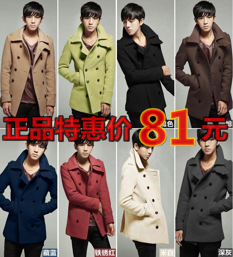 Пальто мужское Other Шерстяная ткань для пальто Без воротника со стойкой