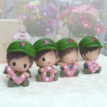 pastoral resin new home decorating new homes decoration love small red army stand love gift furnishings