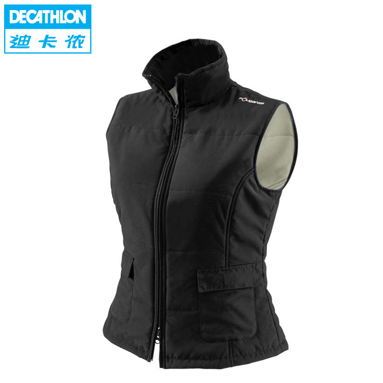 Decathlon 50 percent female equestrian vest comfortable warm a genuine sport vest FOUGANZA