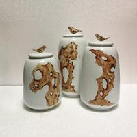 创意中式罐子摆设样板房摆件客厅酒柜家居软装饰品乔迁礼品工艺品