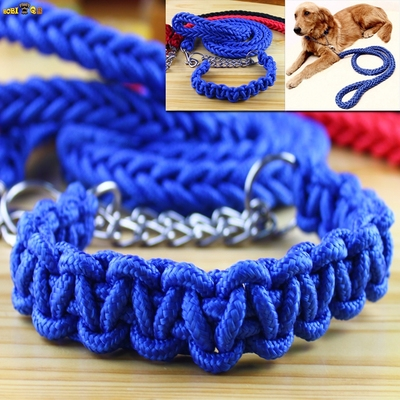 Free shipping in large nylon tow rope Golden Satsuma mastiff dog big dog collar + dog chain traction