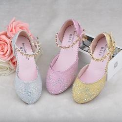 女童高跟凉鞋 夏季儿童包头凉鞋7 8岁大女童公主鞋学生表演鞋包邮