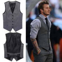 British wind ma3 jia3 Male han edition men's suit vest vest grey Stain resistant trend Cultivate one's morality fashion waistcoat