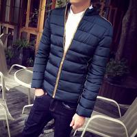 2016冬季新款韩版修身男士羽绒棉服外套青少年休闲棉服加厚棉袄潮