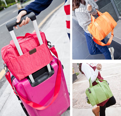 Free shipping casual waterproof travel bag man shoulder bag lady shoulder diagonal package can cover trolley bag