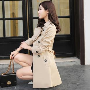 2017春秋装新款风衣女中长款韩版修身显瘦大码女装女式大衣外套潮