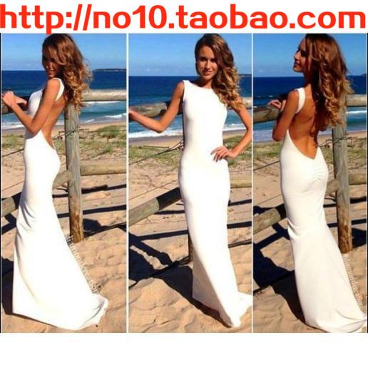Русалка вечернее платье сексуальная Холтер повязку платья 2014