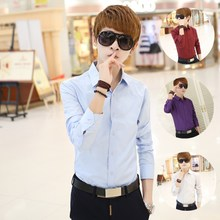 Spring clothing menswear small yards short statures shirts S # S yards han edition cultivate one's morality men's long sleeve shirt les handsome t