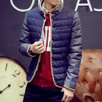 2015冬装立领羽绒服外套男士韩版修身羽绒服青少年短款轻薄上衣潮