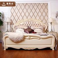 真皮床-皮床1.8米G8QC欧式床v真皮大床家具双内部家具电线图片
