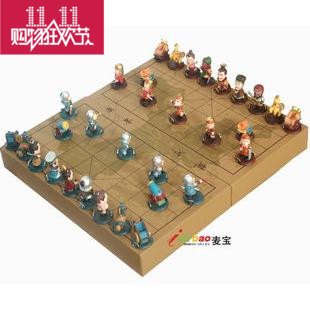 Cartoon stereoscopic three-dimensional chess chess classic chess puzzle game Three Kingdoms fashion mental relaxation