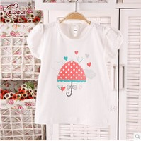 2014新款婴儿短袖T恤 儿童卡通圆领打底衫 宝宝纯棉上衣 夏季体恤