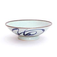 惠兰系列韩式喇叭碗浅口碗大碗中式古典鸡公碗古朴青花陶瓷餐具