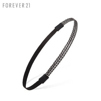 Gray / black on the 24th FOREVER21 accessories F21 handsome new chain headband 00097812