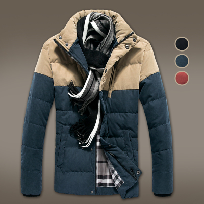 Danjie Shi Specials 1212 men's winter new hit color stitching thick warm coat jacket coat