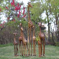 非洲黄桑木木雕长颈鹿摆件 办公室吉祥实木摆件 木质工艺品雕刻