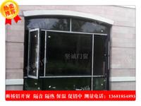 价格透明断桥铝合金平开窗60型双层中空玻璃隔音隔热上海封阳台窗