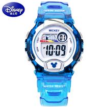 迪士尼Disney电子表 男孩防水儿童手表 多功能学生运动手表男生