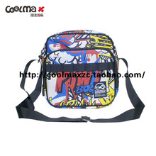 Coolmax trend indicators BAD BOY inclined shoulder bag in color cartoons full flowers. 434503-99