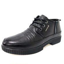 意尔康14新款正品真皮男棉鞋时尚潮流舒适男鞋S811ZM93676A-10黑图片