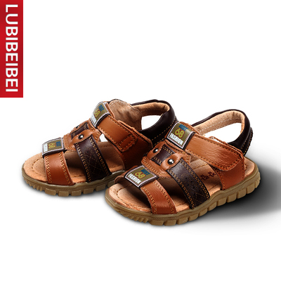Bi Beibei chatter of children, boys and girls sandals leather sandals 2014 new baby sandals arch Care