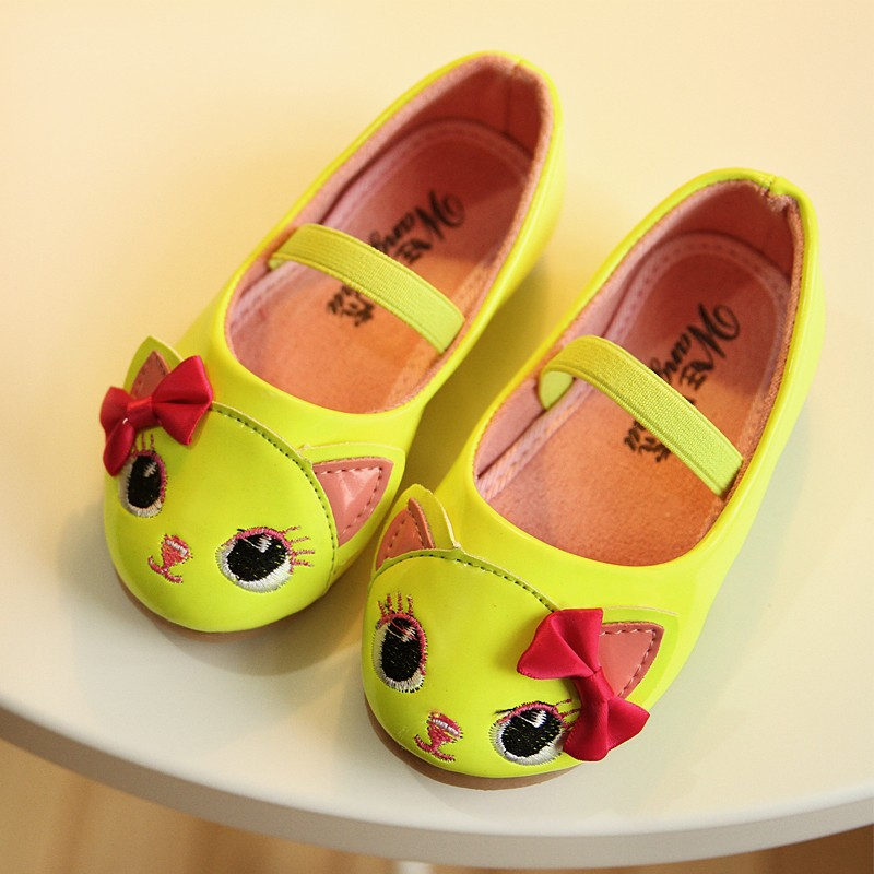 Fall 2014 new Korean version of the cute princess cartoon mice elastic band Girls shoes Children's Shoes tide