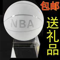 NBA水晶篮球模型 创意DIY摆件生日礼物男生情人节礼物送男友同学