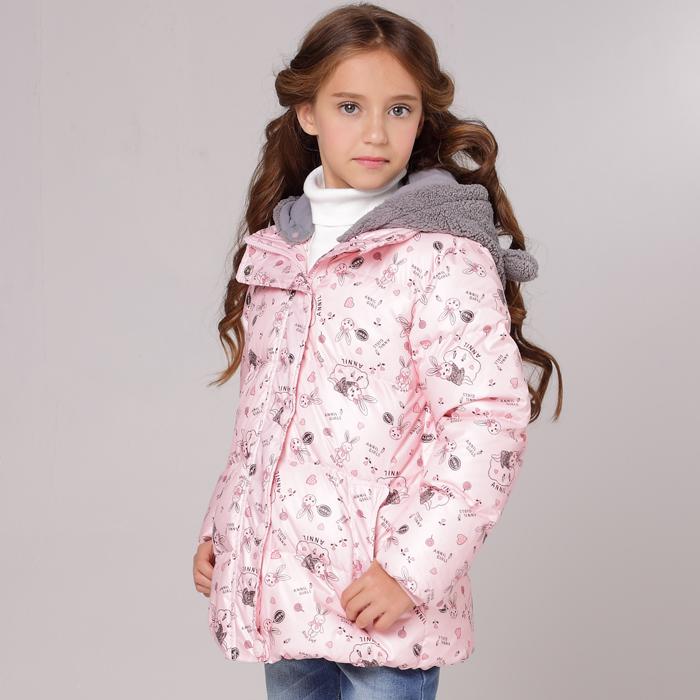 安奈儿女童 带帽短款羽绒服AG345552 特价包邮
