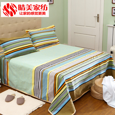 Harumi coarse linen sheets single double student dormitory 1.8 m thick bed of coarse linen old single piece