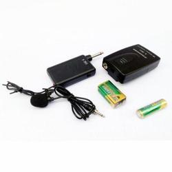 带接收器无线领夹式麦克风 乐器功放会议用50米距离话筒
