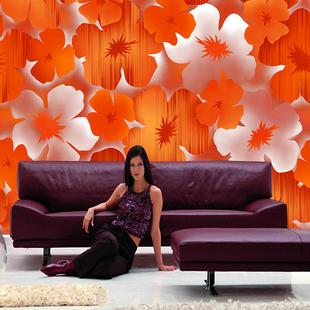 电视背景壁纸壁画客厅卧室酒店无纺布艺术花朵壁画  大型壁画墙纸