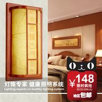 鑫阳现代简约中式壁灯时尚田园实木过道走廊灯具温馨卧室床头灯饰