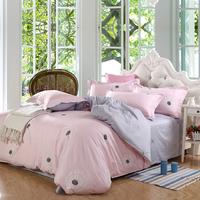 韩式 全棉纯棉四件套 1.5m 1.8m床上用品被单被套可爱春秋款