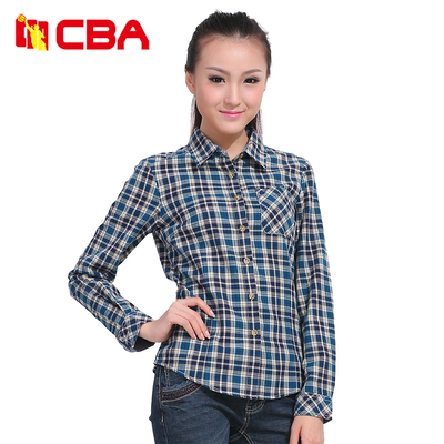 CBA genuine ladies long sleeve 2014 new women's casual long-sleeved shirt collar shirt POLO female 634338202