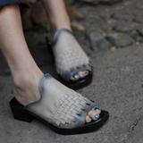 Уникальный этнических кожа ручной женщин Тапочки оригинальный элегантность кожи Пип пальцы