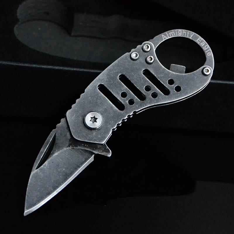 迷你 折叠小刀 全钢钥匙刀 多功能工具小刀 随身户外工具刀复古