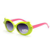 The new wave of bowknot children's fashion circle frame sunglasses 2015, 9122