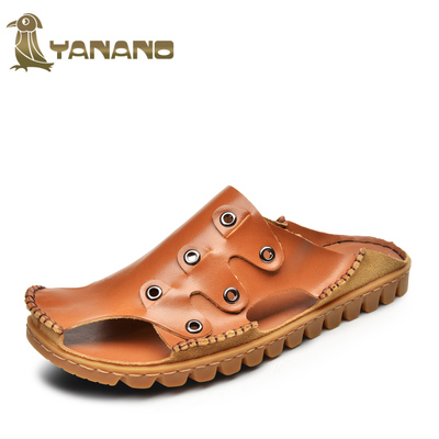 Free shipping 2014 summer woodpecker adhesive Baotou casual shoes, sandals and slippers sandals men 74584