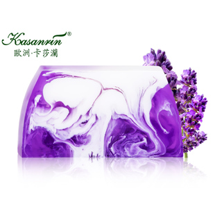 Kasanrin import of milk, essential oils of lavender SOAP handmade soap whitening acne oil controlling julep Indian cleansing SOAP